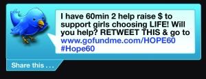 Hope 60 tweet